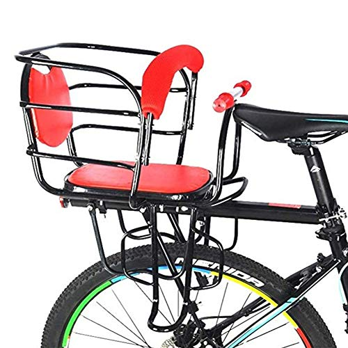 Buy Bargain RANRANHOME Baby Bicycle seat-Child Carrier with Non-Slip handrail Rear seat,red