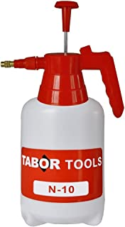 TABOR TOOLS Pump Pressure Sprayer, Garden Hand Sprayer & Mister for Water, Herbicides, Fertilizers, Mild Cleaning Solutions and Bleach. N-10. (0.3 Gallon)