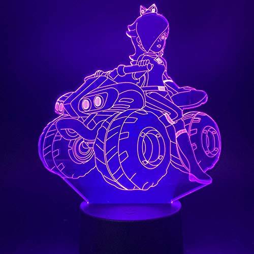 Schoonheid Meisje Rijden Een Quad Bike 3D Illusie Led Nachtlampje voor Office Thuis Studie Kamer Decoratieve Licht Slaapkamer Tafellamp Uniek Gift
