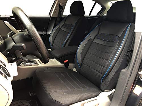 seatcovers by k-maniac V2311874 Sitzbezüge für Mercedes C-Klasse W204 Universal schwarz-blau Autositzbezüge Set Vordersitze Autozubehör Innenraum