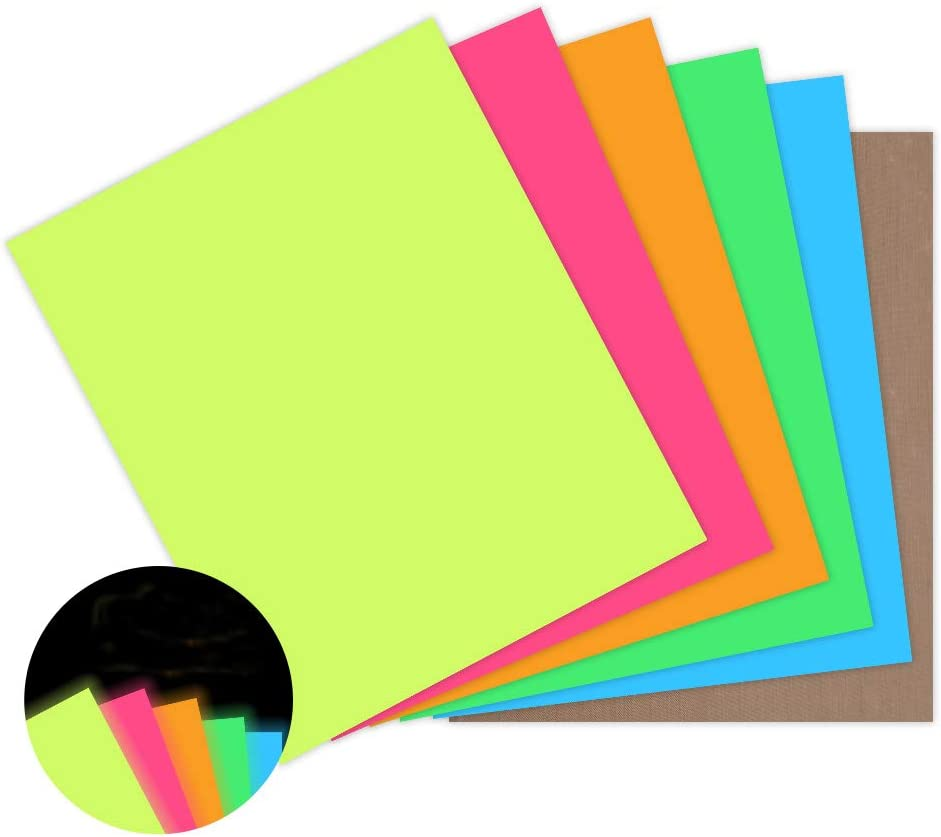 Transwonder Neon Heat Transfer Special price Vinyl Asssorted 5 P Color Sheets Cheap SALE Start