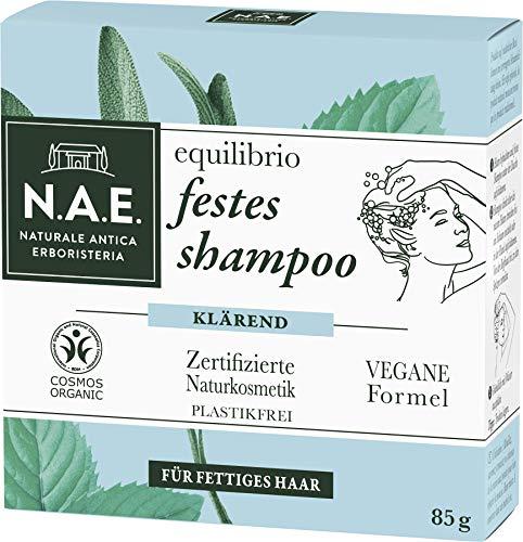 N.A.E. Naturale Antica Erboristeria equilibrio festes Shampoo, COSMOS Organic zertifiziert durch IONC (BDIH) & Vegane Formel, 1er Pack (1 x 85 g)