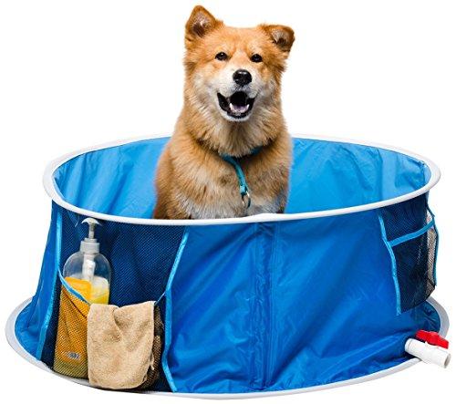 Coco Jojo Devesesport | Piscina para Perros 95 cm | Piscina para Mascotas | Plegable | Bañera al Aire Libre