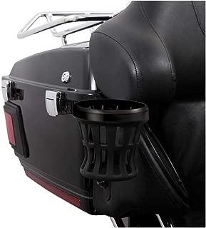 Ciro Passenger Drink Holder Compatible for Harley-Davidson Electra Glide Police 2018 - Black