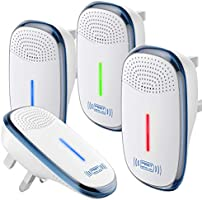 AVA Ultrasonic Pest Repeller, 4 Packs, 2021 Upgraded Electronic Indoor Plug in for Insects, Mice,Ant, Mosquito, Spider,...
