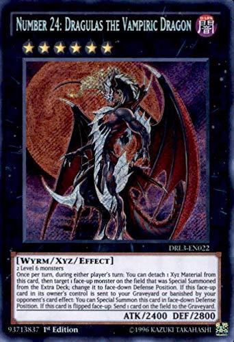 Yu-Gi-Oh! - Number 24: Dragulas the Vampiric Dragon (DRL3-EN022) - Dragons of Legend: Unleashed - 1st Edition - Secret Rare