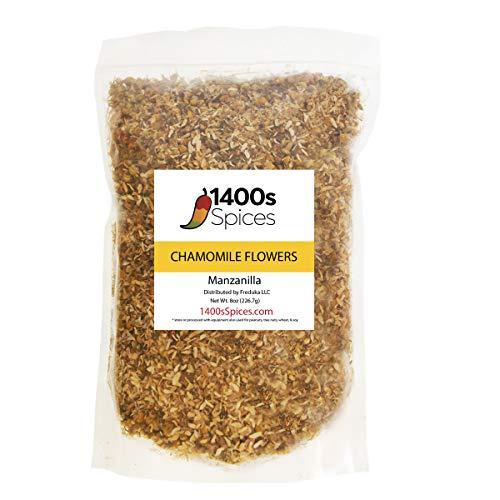 8oz Dried Chamomile Tea Flowers, Whole Loose Leaf Bulk Bag, Flor de Manzanilla para Te.