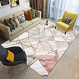 Alfombras A Medida Online Rosa alfombras pequeñas para dormitorio Moderno minimalista creativo geométrico antideslizante resistente a las manchas sala de estar dormitorio salón alfombra decorativa alf