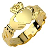 Claddagh Rings Ladies 10k Yellow Gold with Trinity Band (7)