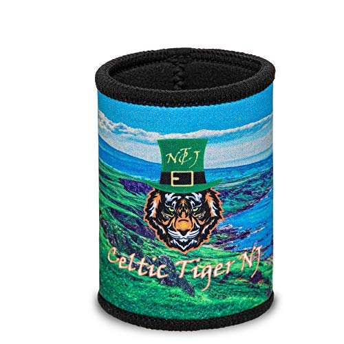 Celtic Tiger NJ Irish Beer Accessories - St Patricks Day Can Coozies for Beer and Soda – Cool Drinking Accessories for College – Insulating Beer Sleeve – 3.93 x 2.75-inch Irish Can Cooler Sleeves