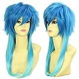 HH Building Dramatical Murder Dmmd Seragaki Aoba Anime Long Cosplay Wig (Blue Mix)