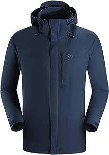 KAILAS Men's Lightweight Hardshell Jacket Hooded Windbreaker Zip Raincoat Hiking