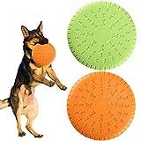 HO2NLE 2Pcs Frisbee Perro Resistente Juguete para Perros Disco Silicona Plegable Dog Disco Volador Perros Rubber Dog Flying Disco para Perro Piscina Jardín de Mascotas al Aire Libre 2 Colors 23 cm