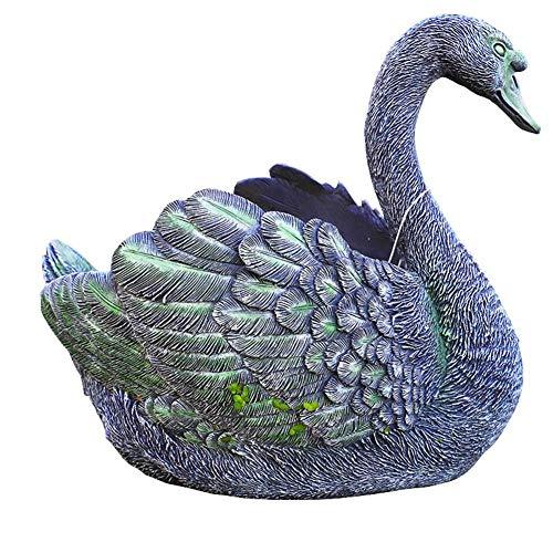 IUYJVR Jardinera de Cisne, macetas de simulación de Cisne Negro, Modelo de Animal, artesanía de Resina, jardín, jardín al Aire Libre, jardinería, Maceta, recepción de Regalos