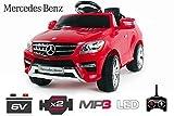 Lizenz Kinderauto Mercedes - Benz ML350 Jeep 6V 1x25W Motor RC Elektroauto Kinderfahrzeug Ferngesteuert Elektro (Weiss)