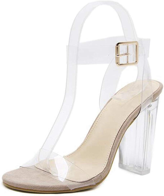 Women Crystal Sandals Summer Clear Heel Open Toe Sandal Ladies Transparent shoes Pumps