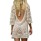 Jeasona Women's Bathing Suit Cover Up Crochet Lace...