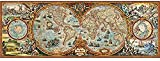 5D Large Diamond Painting Full Drill Kit, Ancient World Map 80x220cm 5D DIY Painting by Number Kits, Crystal Diamond Art Cross Stitch Set, Rhinestone Embroidery Craft Kit for Home Wall Decor