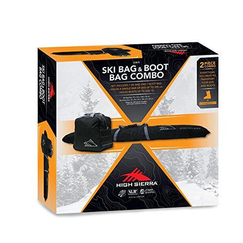 High Sierra 53875-0968 Ski Bag & SKU Boot Bag Combo, Black/Mercury, One Size