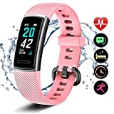 Letsfit fitness tracker ID152, Activity Heart Rate, Pedometer Watch with Sleep Monitor, Step