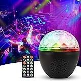 Anpro LED Discokugel USB-Disco-Lichter Discolicht in 16 Farben, Discolicht RGB-Modi Lichteffekt mit Bluetooth-Lautsprecher und Fernbedienung Party Licht Deko für Kinder Geburtstag