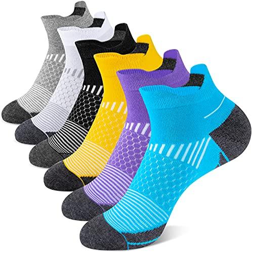 Onmaita Calcetines deportivos para mujeres, 6 pares de calcetines deportivos cortos para actividades al aire libre, ocio, trabajo en funcionamiento