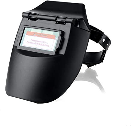 ACAMPTAR ポータブル ソーラー自動光電溶接マスク フラットフリップ半兜 螺旋溶接ヘルメット