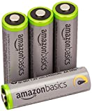 AmazonBasics Lot de 4 piles rechargeables Ni-MH Type AA 500 cycles 2500 mAh/minimum...