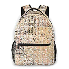 USGYY Mochilas Escolares, Compruebe la alfombra de patchwork Mochila Niños Chicas Casual Mochila para Portatil Mochila Universidad Resistente Mochila Instituto