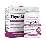 Thyroid Support Supplement - Natural Herbal Thyroid Formula with Iodine (Kelp), Ashwagandha (Withania) & L-Tyrosine to Support a Healthy Metabolism, Reduce Fatigue & Promote Weight Loss - 60 Capsules