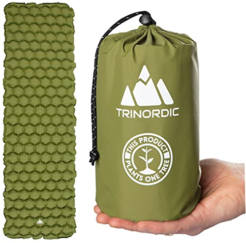 TRINORDIC Colchoneta de camping ultraligera inflable para dormir, plegable, ligera inflable, almohadilla de aire portátil, para mochileros al aire libre, senderismo, viajes