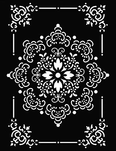 Stamperia Schablone Motive Rose Ornament Weisheit 21x29,7 cm Kunststoff Ornament