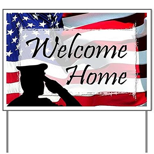 E&M Designs Military Welcome Home Yard SignYard Sign, Vinyl Lawn Sign, Political Election Sign