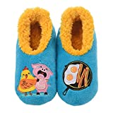 Snoozies Pairables Womens Slippers - House Slippers - Chicken & Pig - Medium