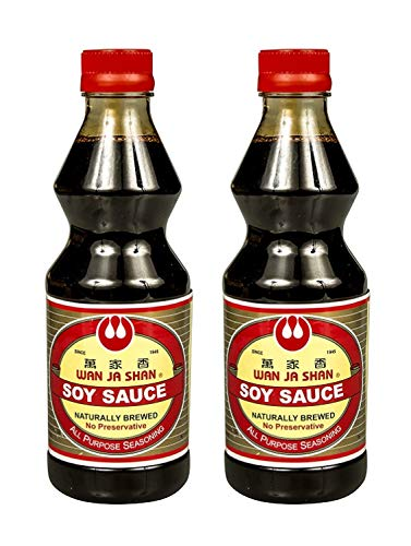 Wan Ja Shan Naturally Brewed Soy Sauce (2 Pack, Total of 33.8fl.oz)