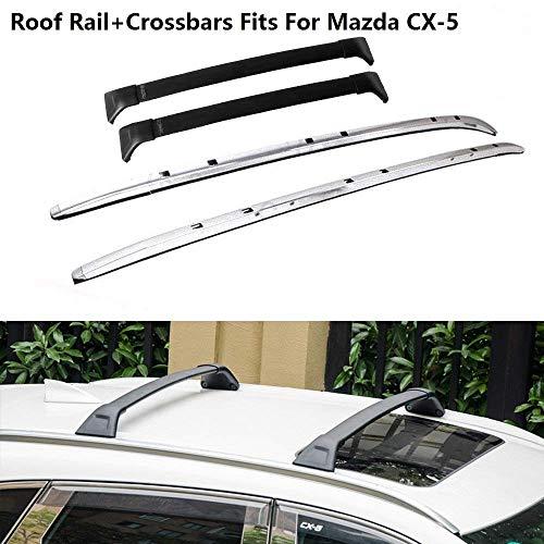 4 Piezas para Mazda CX-5 2017 2018 2019 2020 Barras transversales Juego de Barras de Techo Barras transversales Portaequipajes Portaequipajes Portaequipajes