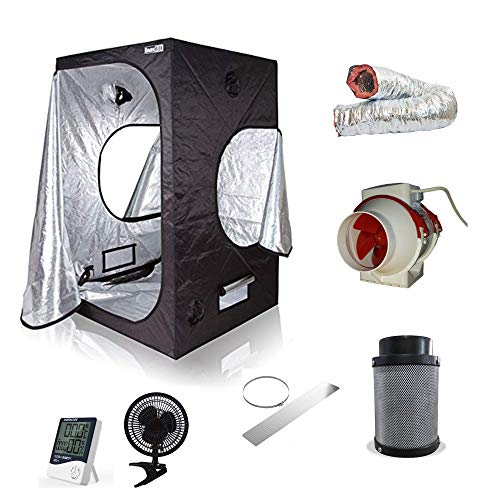 Nice Grow Box Set Zelt mit Abluft Growbox Growzelt 100cm 280cbm/h Rohrventilator Filter