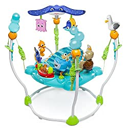 Find fun with nemo and his fishy friends! Detachable tad, pearl and mr. Ray toys 13+ interactive activities with lights, songs and sounds Adjusts to 4 different positions to grow with baby Seat rotates 360-degrees for magic in every direction