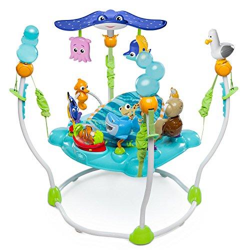 Bright Starts, Disney Baby Saltador y Centro de actividades Buscando a Nemo con más de 13 juguetes, luz y música, 4 alturas regulables
