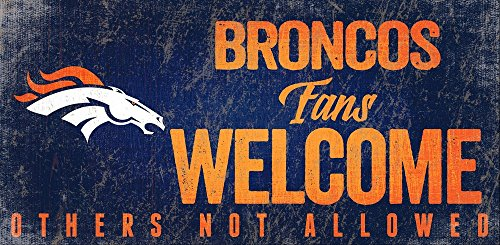 Fan Creations Denver Broncos Fans Welcome Sign, Multi
