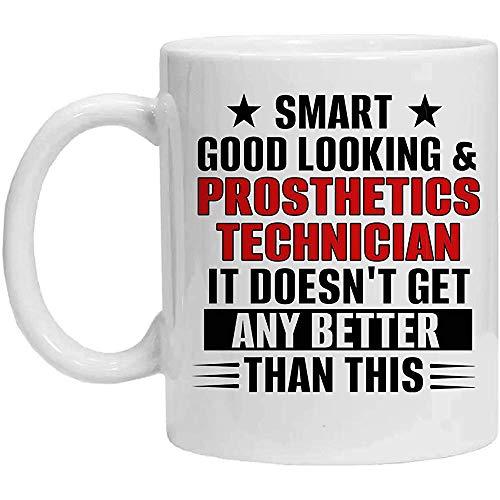 Taza de técnico de prótesis, elegante, guapo y técnico de prótesis, taza de café