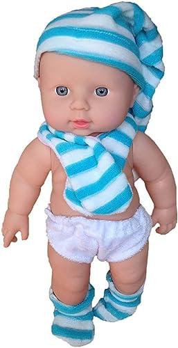 punto de venta Muñecos bebé Simulación Baby Doll 12 Pulgadas   30 30 30 cm Completo Suave muñeca de Silicona Reborn Bebé Apaciguar muñeca Niño Aprendizaje Tempraño Juguete de Navidad Regaño de Cumpleaños (Color   azul)  salida