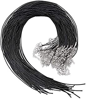 Best Selizo 50Pcs Necklace Cord Black Waxed Cotton Cord for Necklace Making and Bracelet Making Review