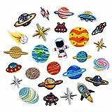 parches stickers, 26 piezas de Astronauta Planetas Parches, parches para colocar en la ropa,...
