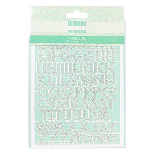Eerste editie Papier-Alfabet, Wit, 24,5 x 16 x 0,5 cm