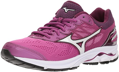 Mizuno Women's Wave Rider 21 Running Shoe Athletic Shoe, clover/white, 6 B US