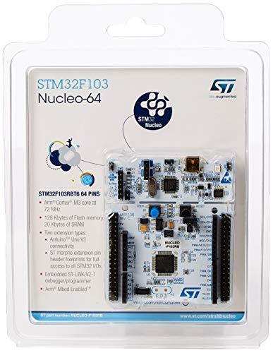 Placa de desarrollo STMicroelectronics, modelo STM32 Núcleo 64, con microcontrolador, compatible con Arduino y conectividad ST Morpho, 128 Kb, 1