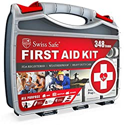 2-in-1 First Aid Kit (348-Piece) 'Double-Sided Hardcase'...