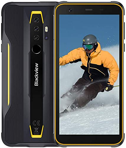 "Rugged Smartphone Blackview BV6300, Android 10 Outdoor Smartphone Dual 4G IP68 Cellulari Resistenti, 13MP Quad Rear Camera HDR 5.7"" MTk A25 Processore Octa-core 3+ 32GB, NFC/OTG"
