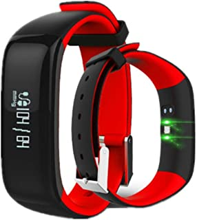 JSGJSH 2018 New Smart Bracelet P1 IP67 Waterproof Smartband Blood Pressure Bluetooth Smart Bracelet Wearable Heart Rate Monitor Wristband for Android iOS Phone